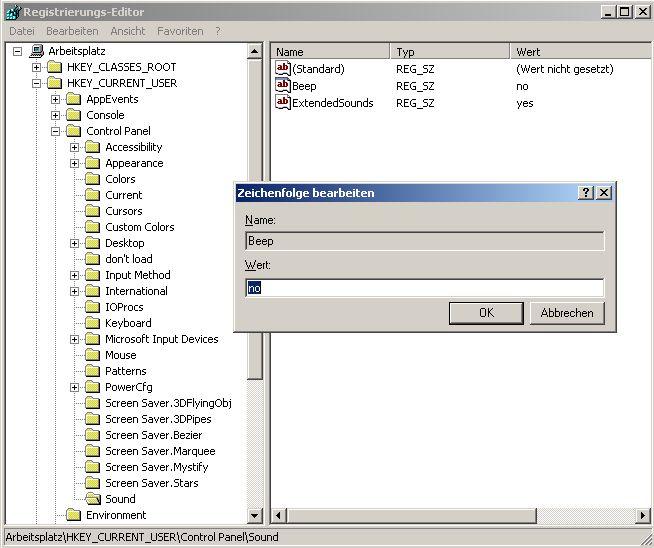 Windows-System-Beep-ausschalten